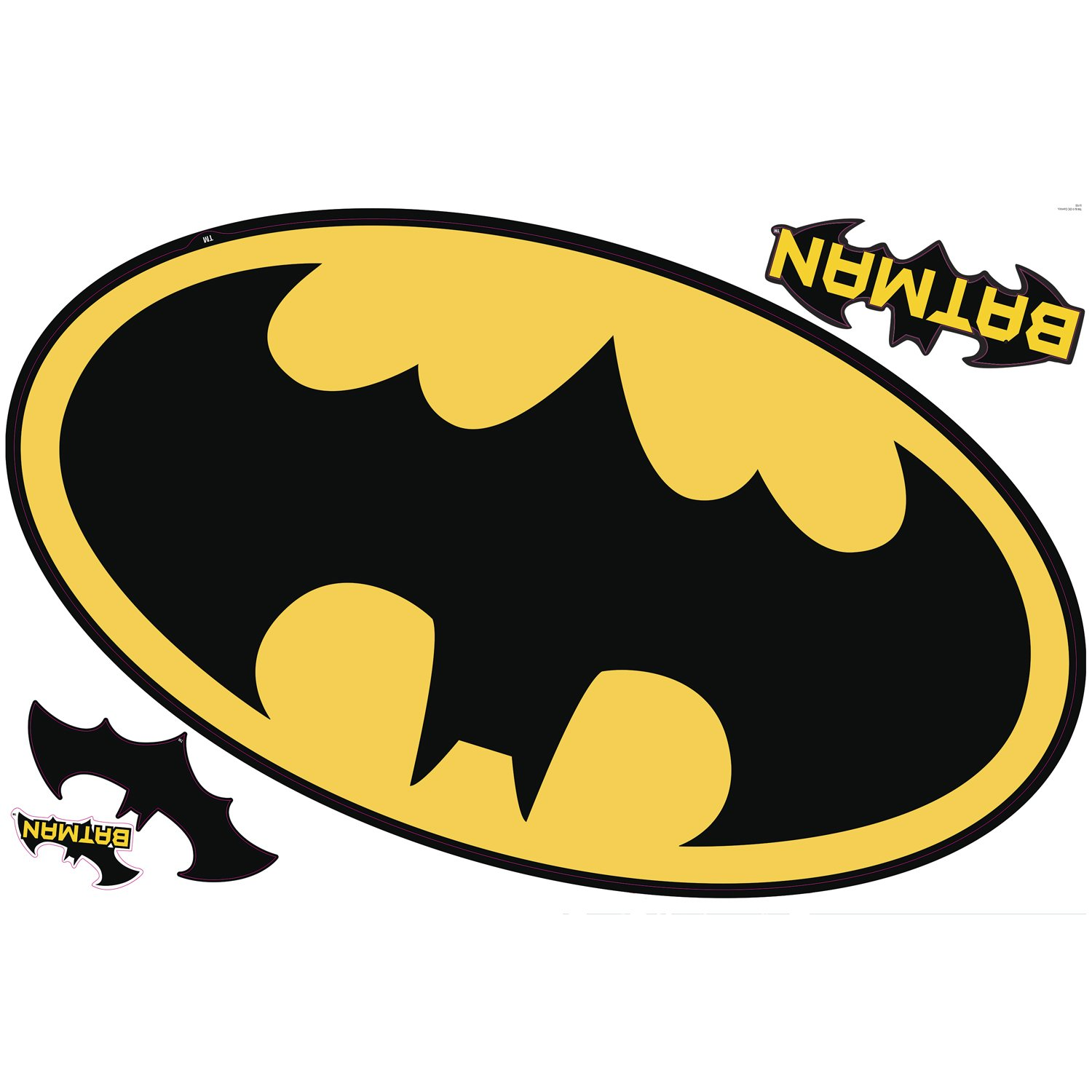 RoomMates RMK2623SLM Dry Erase Batman Logo Peel and Stick Giant Wall Decals