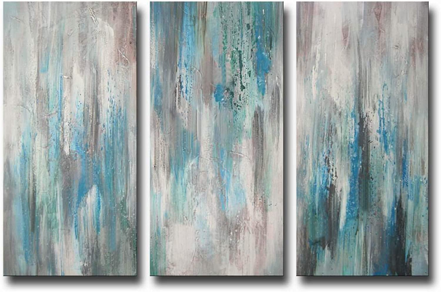 B0123BC9D4 ARTLAND Hand-Painted 'Sea of Clarity' Oil Painting Gallery-Wrapped Canvas Art Set 3-Piece 71xt6trxPEL