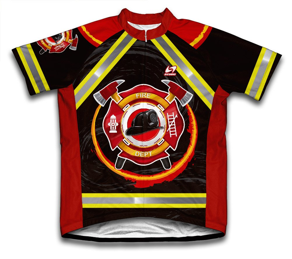 ScudoPro Firefighter Short Sleeve Cycling Jersey for Men