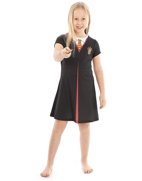 Harry Potter Gryffindor Cloak Disfraz Negro Niñas Cosplay Vestido ...