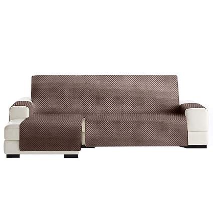 Funda Cubre Chaise Longue Práctica Modelo Guadalaviar, Color Marrón, Medida Brazo Izquierdo – 290cm (Mirándolo de Frente)