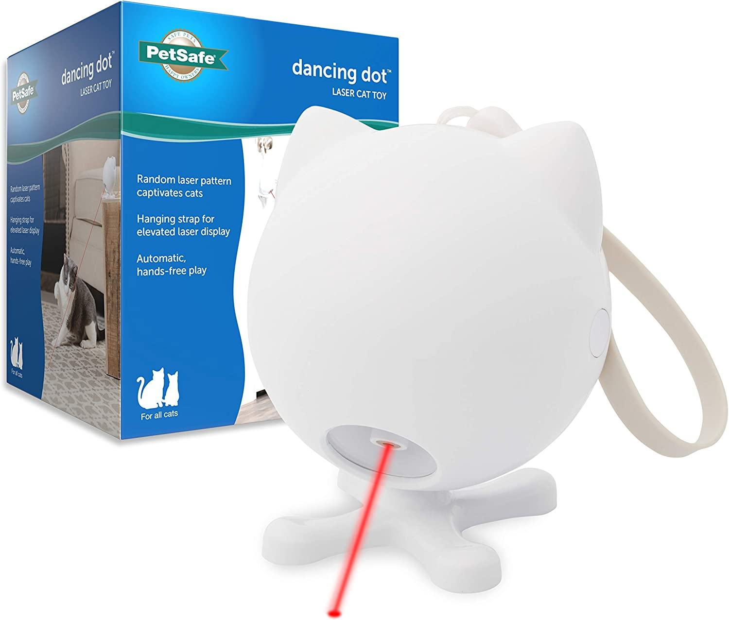 PetSafe Dancing Dot - Interactive Laser Cat Toy - 2 Play Modes - Works Great on Elevated Surfaces : Pet Supplies