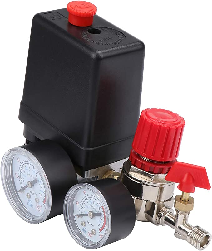 Hseamall Druckschalter Kompressor Sicherheitsventil Kaliber Druck Druckschalter Schalter Druckwächter Für Kompressor Luftkompressor Auto