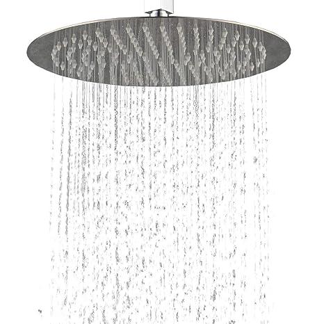 Hiendure Ducha lluvia Contemporáneo Efecto lluvia Acero Inoxidable Cromo Alcachofa de la Ducha (Ronda 16 pulgadas) Ducha de Baño