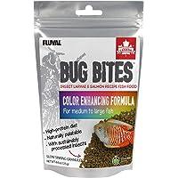 Fluval Bug Bites visvoer, met insectenlarve, kleurversterkende voering, langzaam zinkend granulaat, 1,4-2 mm, 125 g