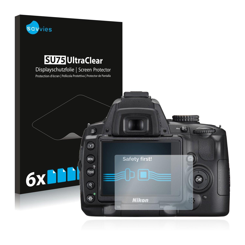 savvies Protector Pantalla Compatible con Nikon D5000 (6 Unidades ...