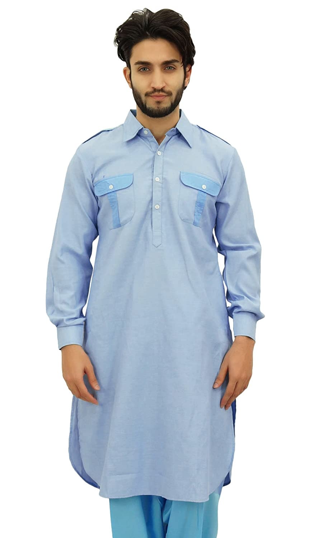 Atasi Men's Pathani Style Men's Long Kurta Punjabi Ethnic Shirt
