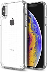 PATCHWORKS Lumina Designed for Apple iPhone X iPhone XS 4G Case 5.8 inch (2018) Diamond Crystal Clear Never Yellow Shockproof Hard Back Slim Thin Protective Soft Flexible Protector Transparent - Clear
