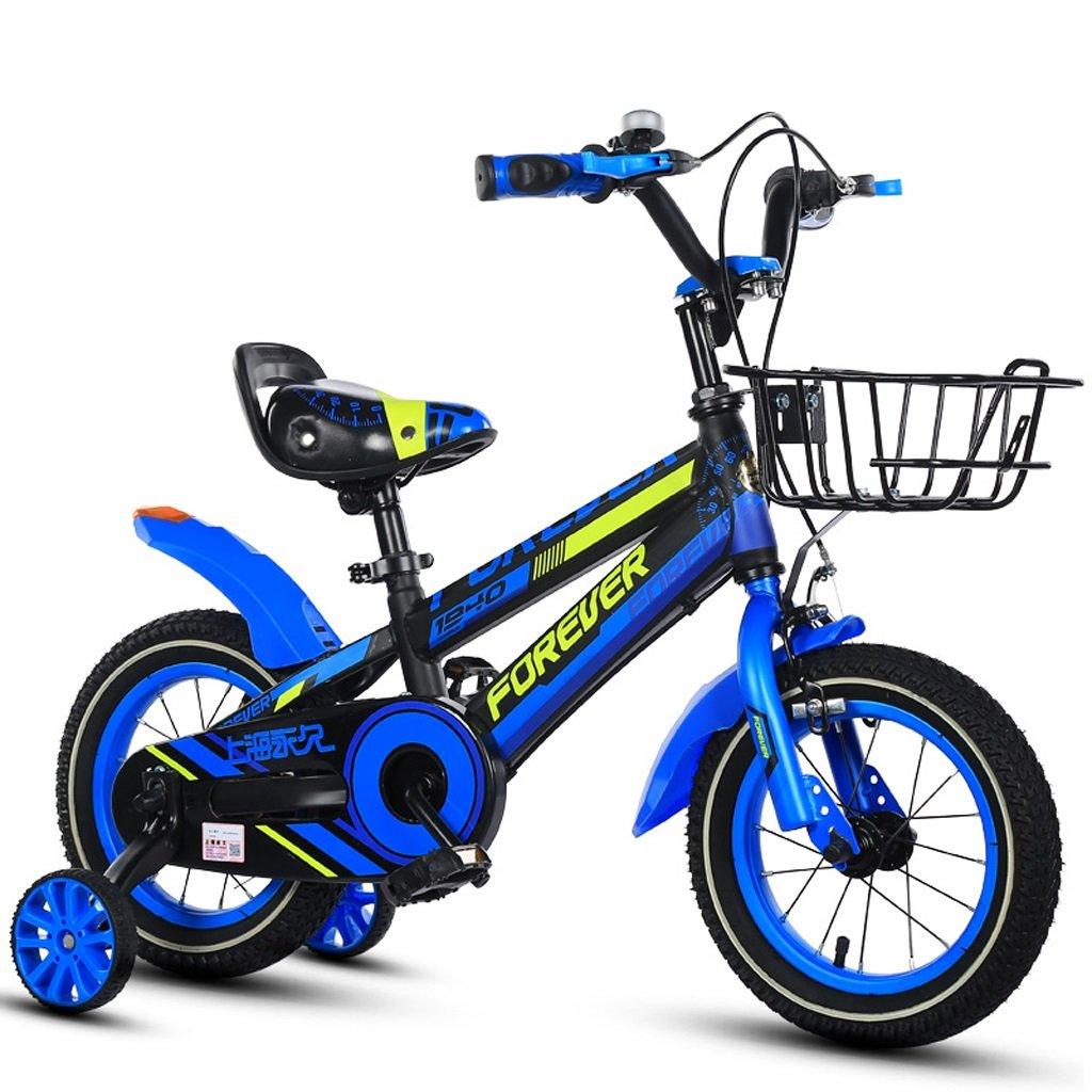 子供用自転車、ボーイズバイク、14インチ、3-7歳の子供に適して (Color : Blue) B07CSZT1JQ