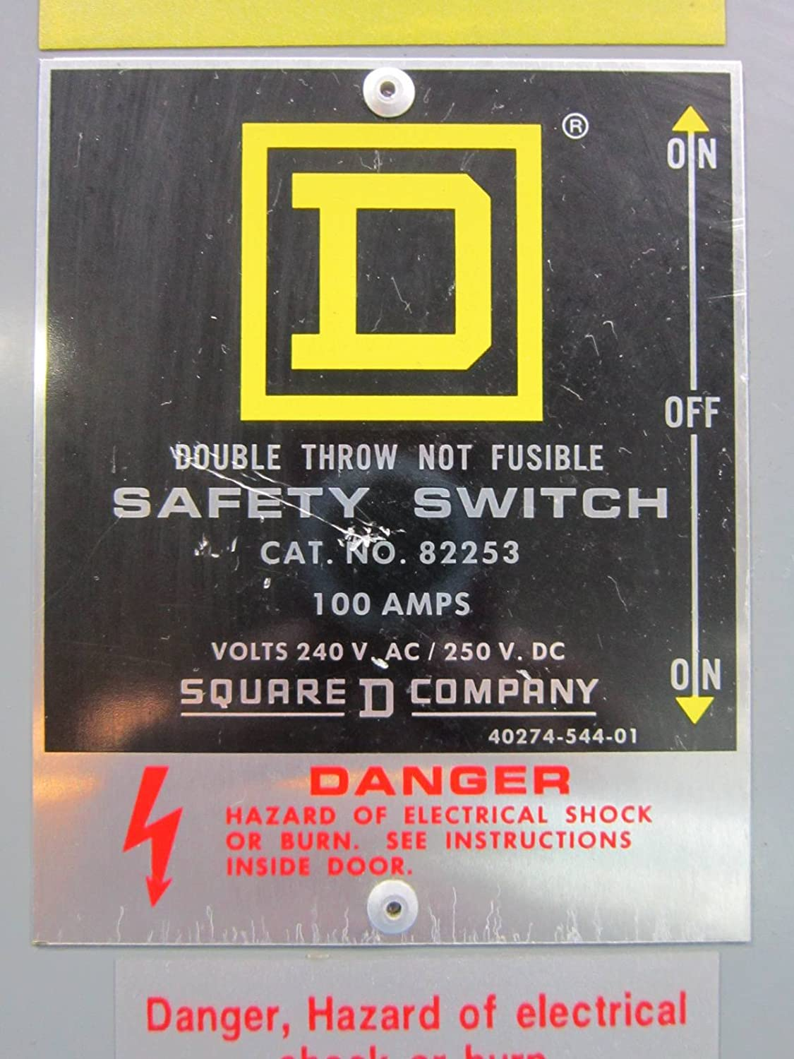 Square D 82253 Double Throw Safety Switch 100 Amp 240v Manual Breaker Load Http Www Shopping Com Enix Co Transfer E1 Industrial Scientific