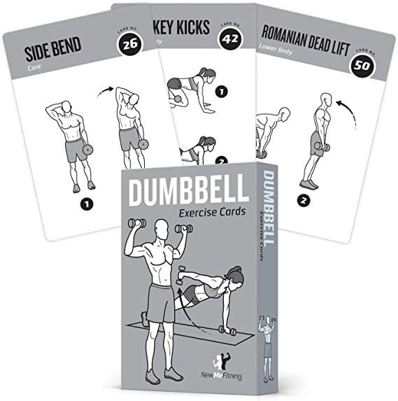 NewMe Fitness Dumbbell Exercise Cards