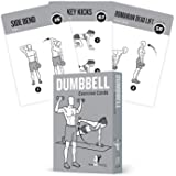Exercise Cards Dumbbell Home Gym Strength Training Building Muscle Total Body Fitness Guide Workout Routines Bodybuilding Per