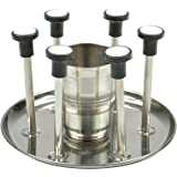 Planet Heavy Stainless Steel Glass Stand & Spoon - Cutlery Stand/Holder For Kitchen / Dining Table