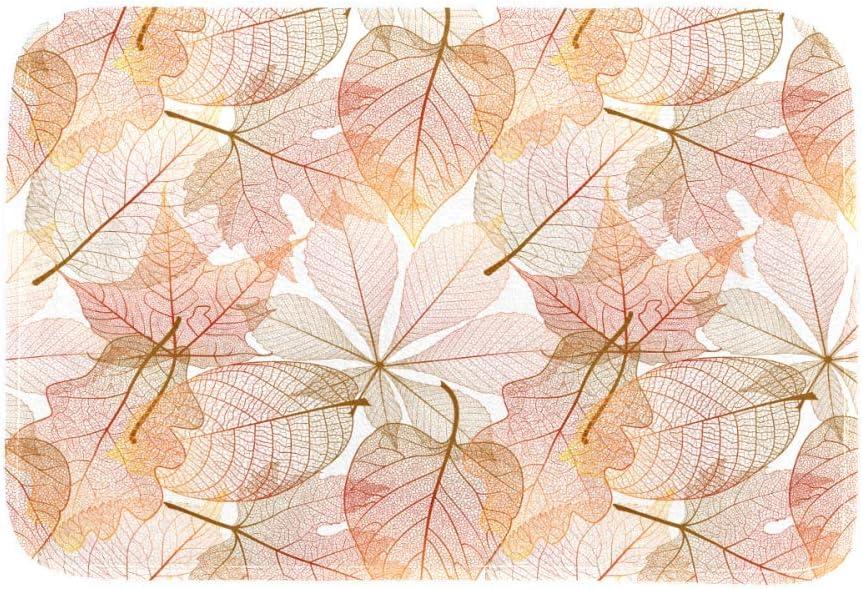 DEYYA Area Rugs Leaves Sample Pattern Non Slip Shaggy Floor Mat Carpet for Bedroom Kitchen Living Room Home Decor 63 x 48 inch