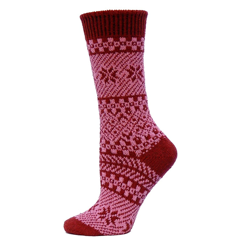 Qt feet Juneau Fairisle Ladies Crew Sock