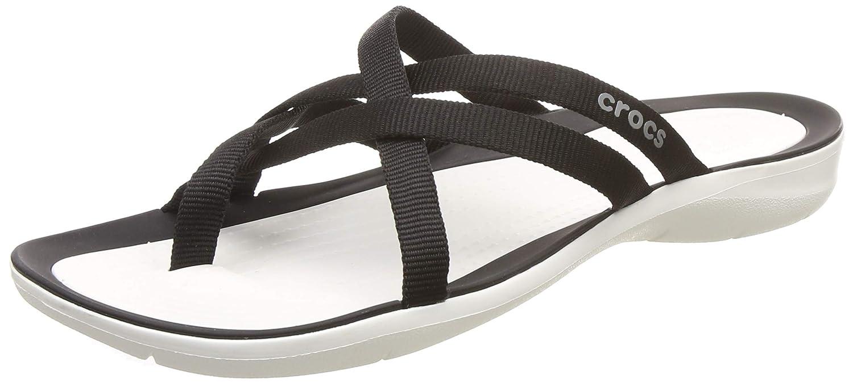 5775855a2 Amazon.com  Crocs Women s Swiftwater Webbing Flip Slide Sandal  Shoes