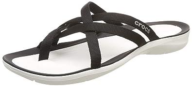 64c1d66e2000 Amazon.com  Crocs Women s Swiftwater Webbing Flip Slide Sandal  Shoes