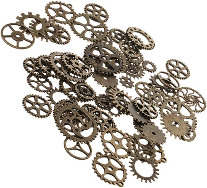Bronce 100g Encantos Mezclados Steampunk Gear Colgante Para Joyer/ía DIY Bricolaje Decoraci/ón