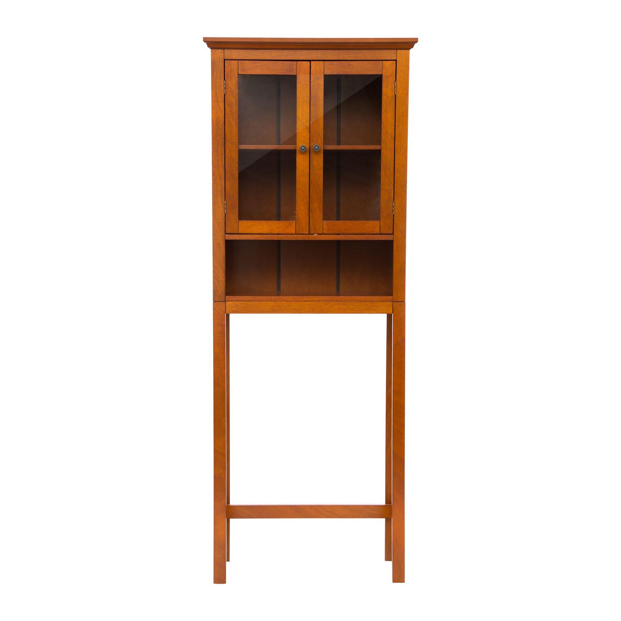Glitzhome 68.25''H Wooden Bathroom Storage Cabinet Spacesaver