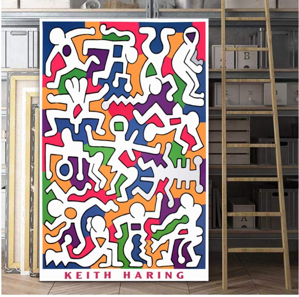 SZYUY Impresi/ón De La Lona Carteles Y Grabados Keith Haring Original Pop Art Poster Print Abstract Painting Wall Pictures para La Decoraci/ón del Hogar