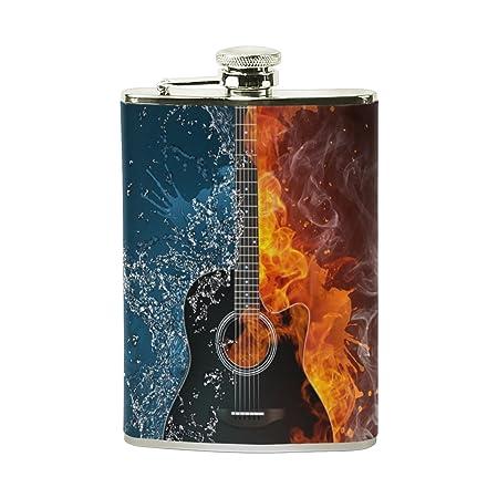 Compra COOSUN Frasco Beber Guitarra eléctrica con el Cuero de la ...