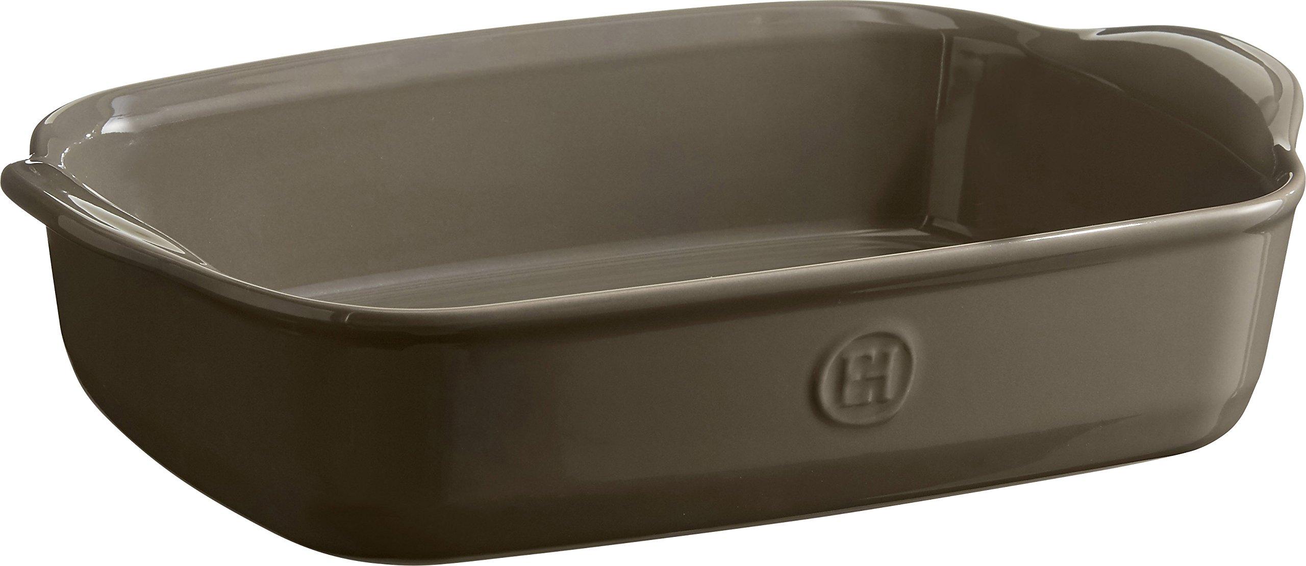 Emile Henry 959650 Ultime Rectangular Baking Dish, 11.4'' x 7.5'', Flint