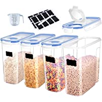 Cereal Container Storage Set of 4 - Airtight Food Storage Containers 4L (135.2oz) for Rice,Snacks and Sugar - BPA Free…
