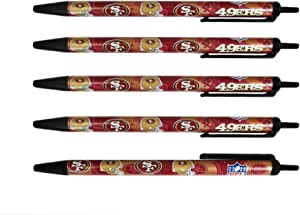 Pro Specialties Group NFL 5-Pack Retractable Click Pens- Great Stocking Suffers and Party Favors