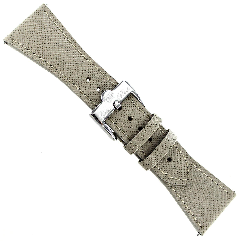 26 mm Glam Rockカーキベージュサフィアーノ厚手本革時計バンドezpins  B01JBEV4OG