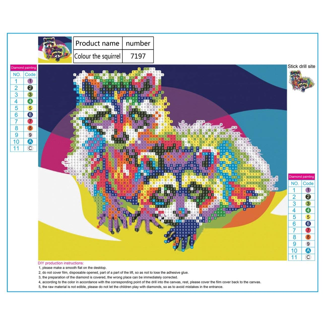 Liobaba Colorful Cat Pattern Elegant Art Painting DIY Handmade Diamond Painting Cross Stitch Indoor Wall Decor Embroidery Decoration