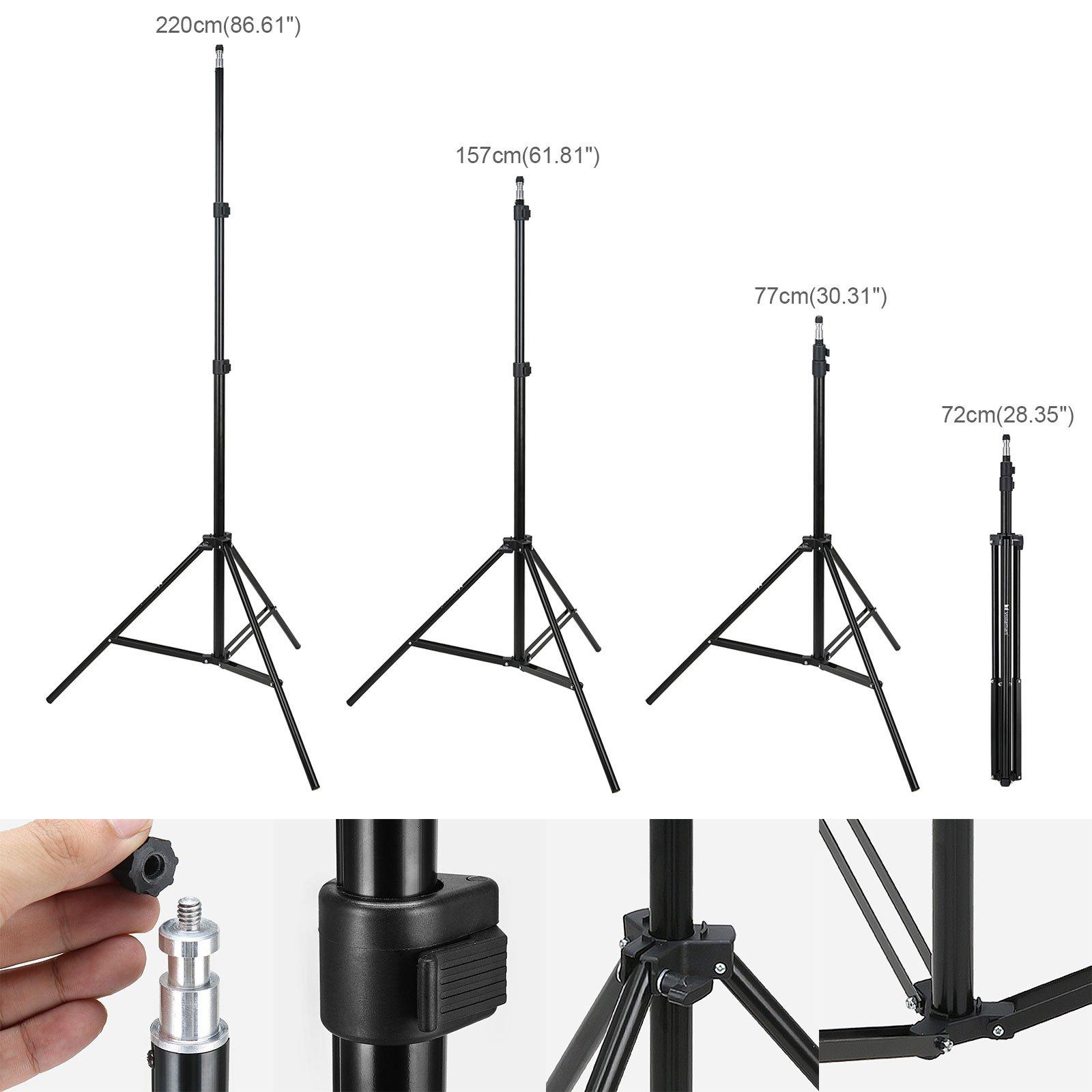 Voilamart Photography Umbrella Lighting Kit Continuous Lighting Soft Umbrella Kit 600W 5500K Day-Light Soft Umbrellas for Portrait Photography Studio and Video Shooting