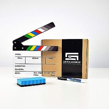 DREAMGRIP - Pizarra de plástico acrílico de borrado en seco para director, 22 x 18 cm, con marcador de borrado en seco y limpiaparabrisas: Amazon.es: ...