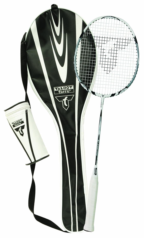 Talbot Torro Badminton Schläger Komplettset Isoforce 211 Starterset, 1 Graphitschläger, 3 Bälle, Tasche, alles für den sofortigen Start 449521 1 Graphitschläger 3 Bälle
