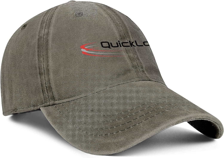Mens Womens Caps QuickLogic Logo Hat Snapback Ball Denim Cap Adult Hats