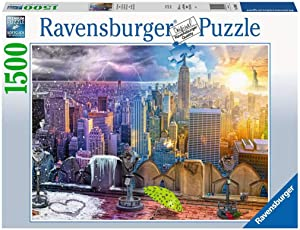 Ravensburger 16008 Day and Night New York Skyline 1500 Piece Puzzle for Adults - Every Piece is Unique, Softclick Technology Means Pieces Fit Together Perfectly