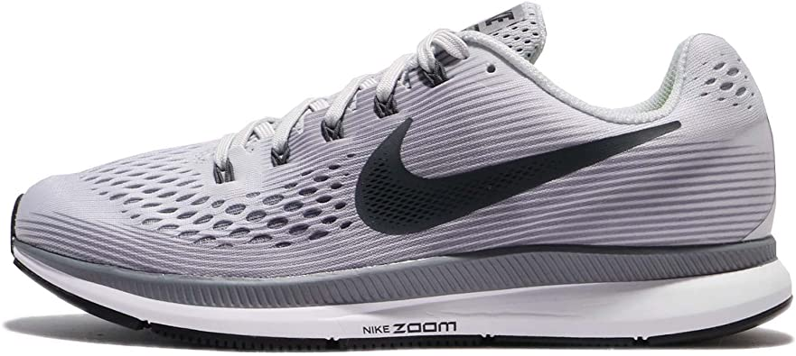 Nike Men's Air Zoom Pegasus 34, PURE PLATINUMANTHRACITE, 6 M US