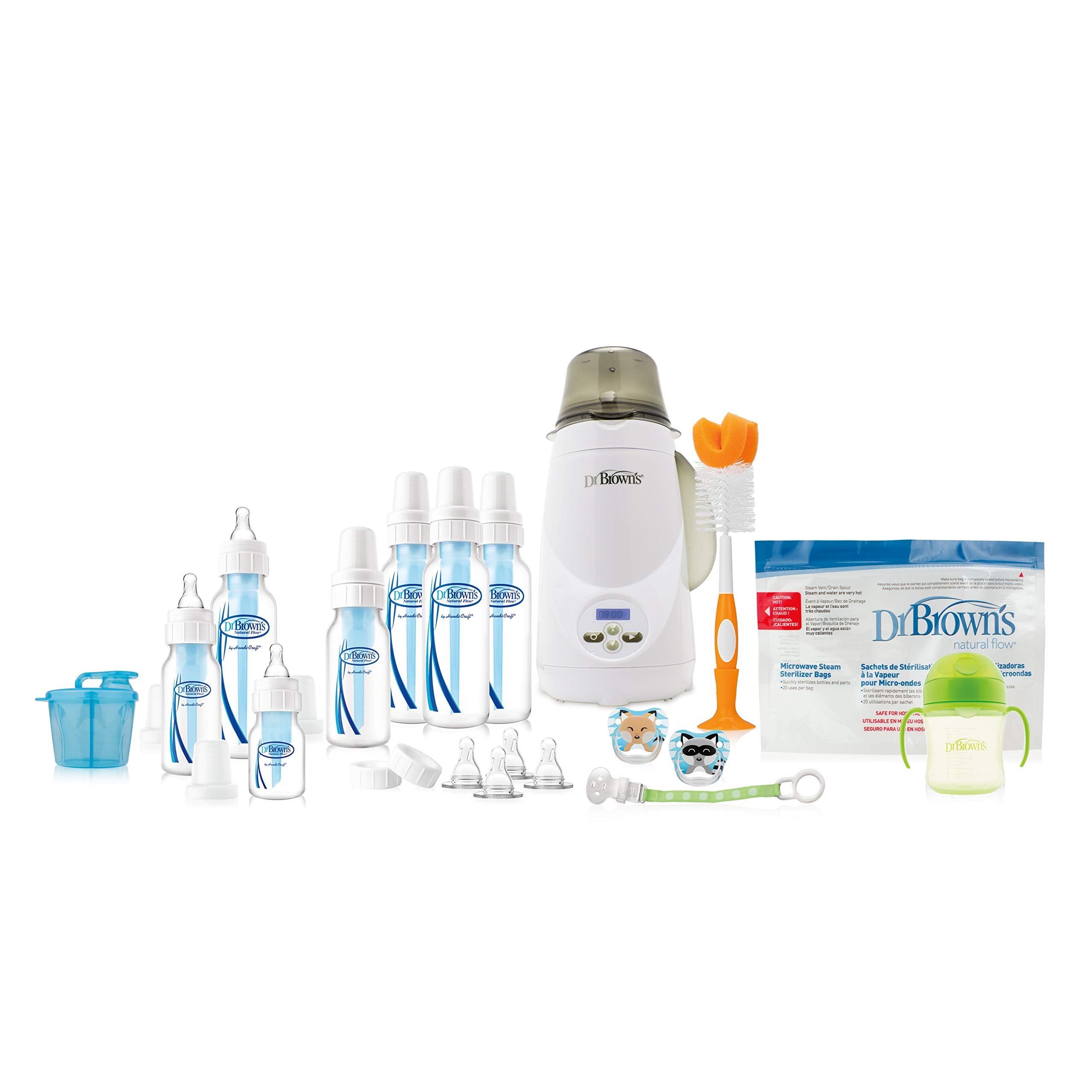 Dr. Brown's Baby Bottles All in One Gift with Deluxe Bottle Warmer by Dr. Brown's