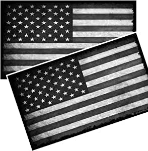 Distressed American Flag Subdued Colors Decals Pack Of Four