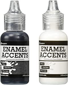 Ranger GAC27355 Inkssentials Enamel Accent, 0.5 oz, Black/White