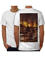 Colline rue Bâtiment Ville Ville Ville Homme S-5XL T-shirt le dos   Wellcoda