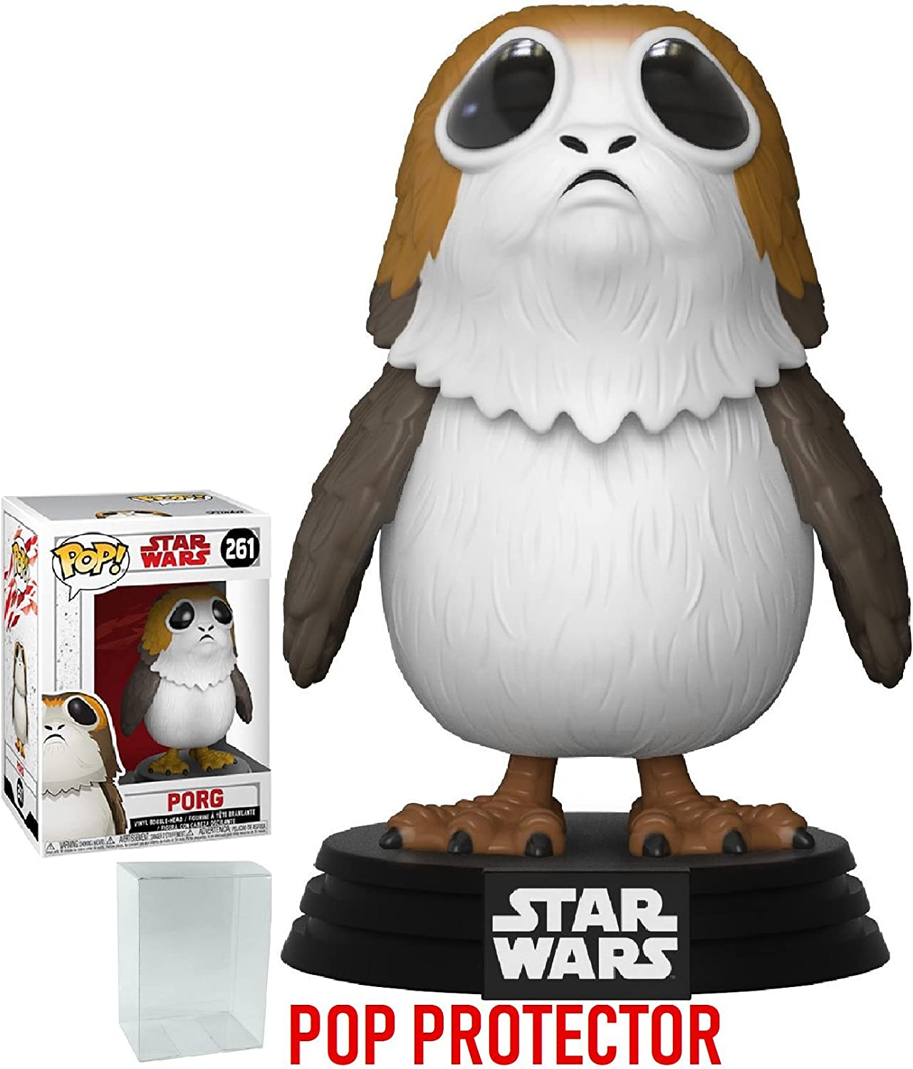 Amazon Com Funko Pop Star Wars The Last Jedi Sad Porg 261 Vinyl Figure Bundled With Pop Box Protector Case Toys Games