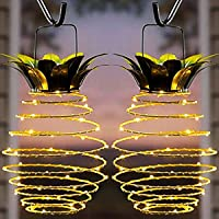 2-Pack Kazoku Waterproof 20 LED Pineapple Solar Lights