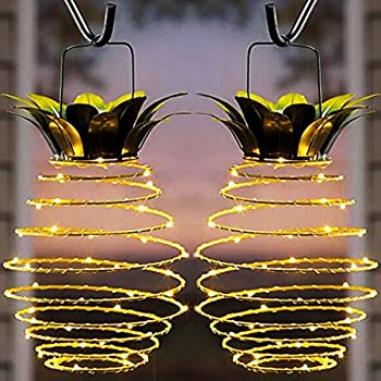 2-Pack Kazoku Waterproof 20 LED Pineapple Solar Lights