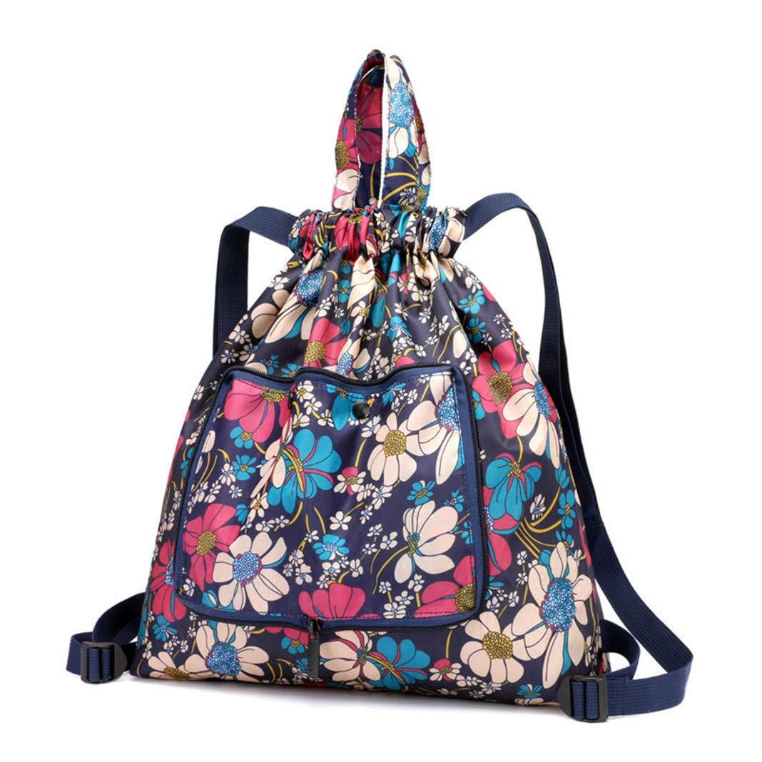 ba84d5f643f9 Amazon.com : Risefit Foldable Water Resistant Drawstring Bag String ...