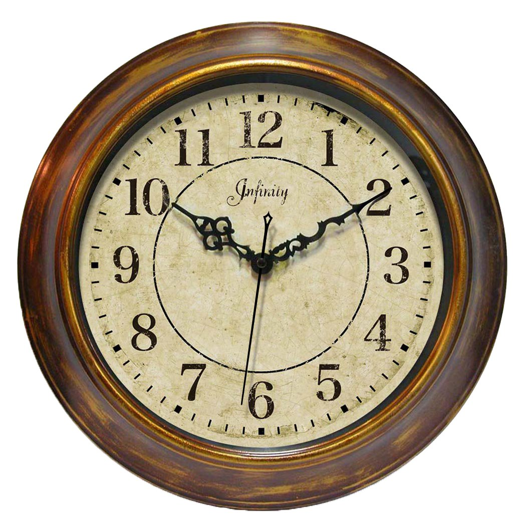Amazon 14 inch bronzed copper wall clock the keeler by amazon 14 inch bronzed copper wall clock the keeler by infinity instruments home kitchen amipublicfo Image collections