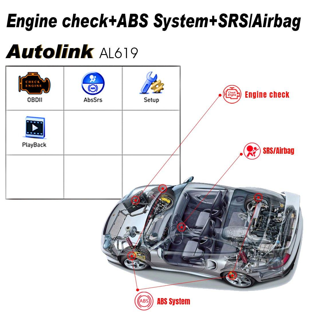 Autel Al619 Autolink Engineabssrs Auto Obd2 Scanner Chevrolet Beat Wiring Diagram Car Code Reader Automotive Diagnostic Tool