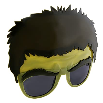9f5bada47c Amazon.com  Sunstaches Marvel Avengers Hulk Character Sunglasses ...