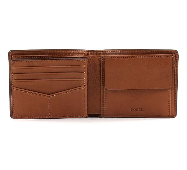 Fossil - Herren Geldbörse Bo Rfid, Carteras Hombre, Braun (Cognac), 1.9x9.5x11.4 cm (B x H T): Amazon.es: Zapatos y complementos