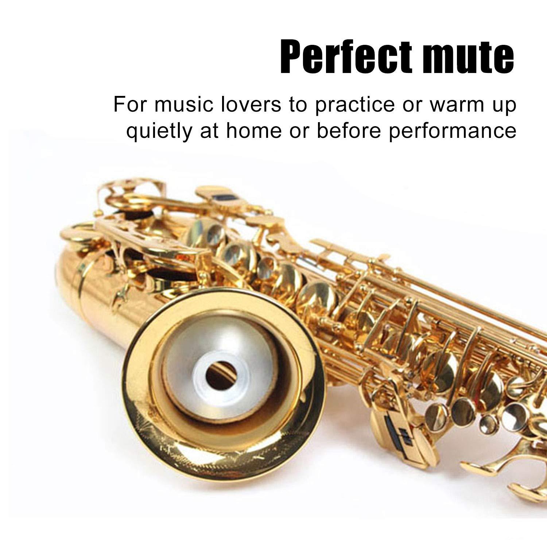 Light-Weight Aluminum Metal Alto Sax Saxophone Dampener Mute Silencer Practice Tools Alto