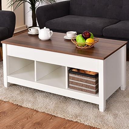 Amazoncom Tangkula Lift Top Coffee Table Modern Living Room